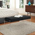 Roam Performance Velvet Bench in Black Product Image