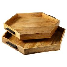 See Details - Hexagon Serving Tray set/2.