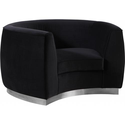 "Julian Velvet Chair - 50.5"" W x 40.5"" D x 29"" H"