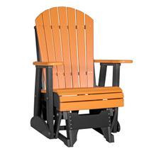 See Details - 2 Adirondack Glider Chair, Tangerine-black