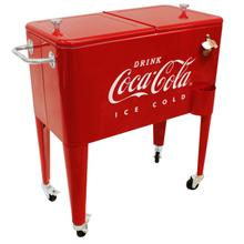 """View Product - Coca-Cola® Embossed Retro """"ICE COLD"""" 60 qt. Cooler"""