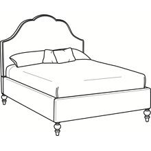 Mayfair Queen Upholstered Bed with Turned Leg