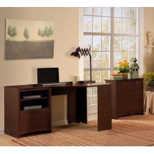 Buena Vista Corner Desk with Lateral File Cabinet - Madison Cherry