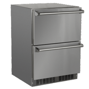 Marvel24-In Outdoor Built-In Refrigerated Drawers with Door Style - Stainless Steel