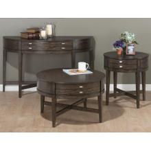 """Antique Gray 22"""" Round End Table"""