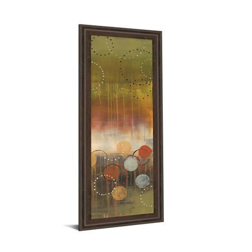 "Classy Art - ""Circles In Green Panel Il"" By Jeni Lee Framed Print Wall Art"