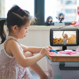 Portable 9 inch Class LCD TV With Rechargeable Battery, SC USB FM & Remote Control - TV1703-9