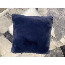 "Chinchilla Feel Faux Fur Pillow by Rug Factory Plus - 20"" x 20"" / Navy"