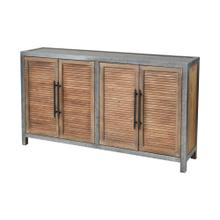 Badlands Drifted Oak with Aged Iron 2-Door Wood and Metal Cabinet