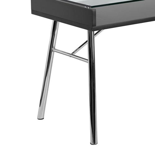 Flash Furniture - Brettford Desk with Tempered Glass Top