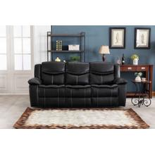 8004 BLACK Air Leather Power Recliner w/ USB Sofa