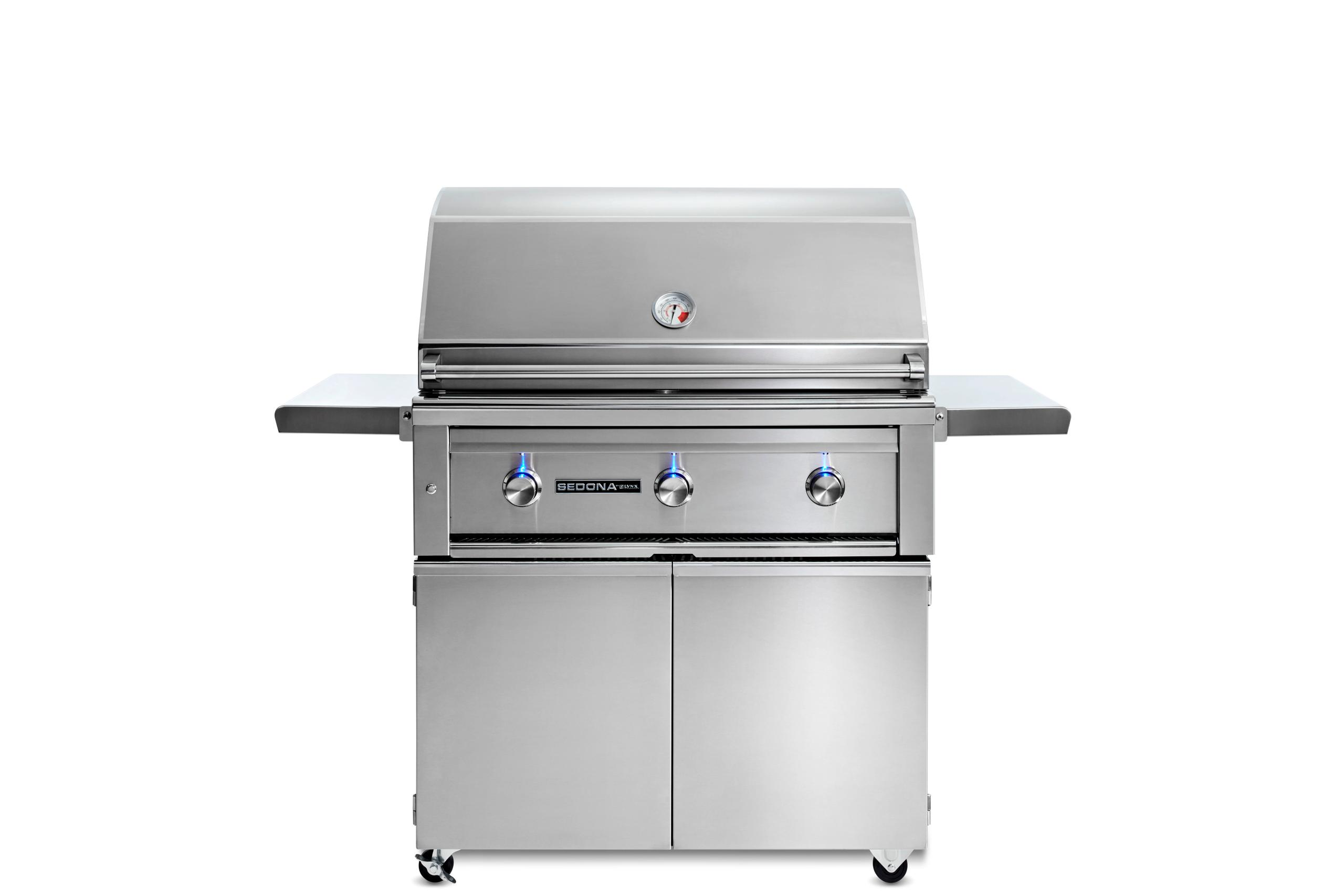 """Lynx36"""" Sedona By Lynx Freestanding Grill With 3 Stainless Steel Burners, Lp"""