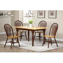 DLU-TLB3660-820-NLO5PC  5 Piece Butterfly Dining Set  Arrowback Chairs