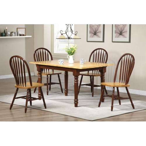 Butterfly Dining Set w/Arrowback Chairs (5 Piece)