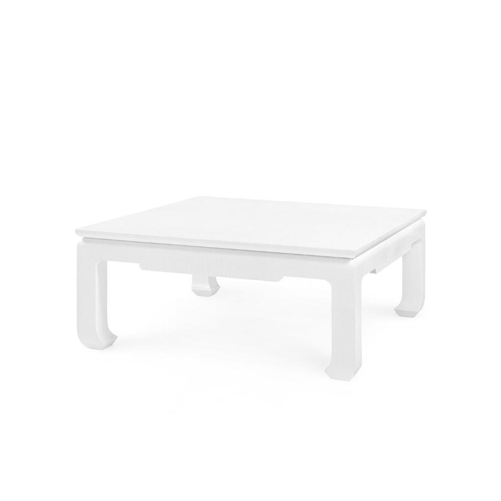 See Details - Bethany Large Square Coffee Table, White