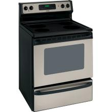 "Hotpoint® 30"" Free-Standing Electric Range (This is a Stock Photo, actual unit (s) appearance may contain cosmetic blemishes.  Please call store if you would like actual pictures).  This unit carries our 6 month warranty, MANUFACTURER WARRANTY and REBATE NOT VALID with this item. ISI 39872"