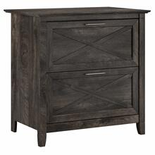 See Details - 2 Drawer Lateral File Cabinet, Dark Gray Hickory