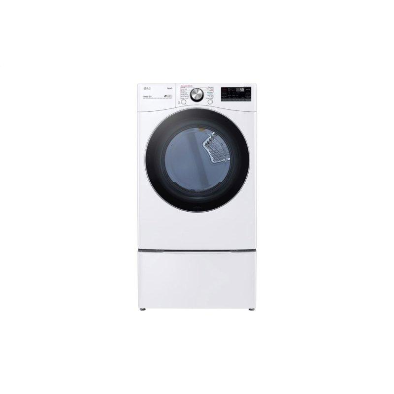 7.4 cu. ft. Ultra Large Capacity Smart wi-fi Enabled Front Load Electric Dryer with TurboSteam(TM) and Built-In Intelligence