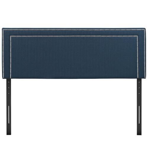 Jessamine Full Upholstered Fabric Headboard in Azure