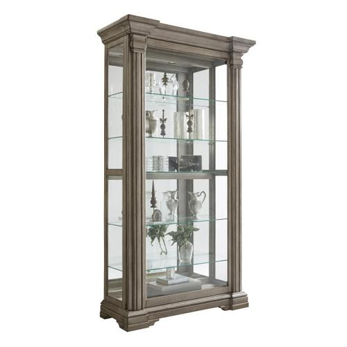 Pulaski Furniture - Sliding Front Display Cabinet With Gray Wash Finish