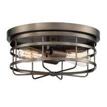 View Product - 2 Light Flushmount in Bronze
