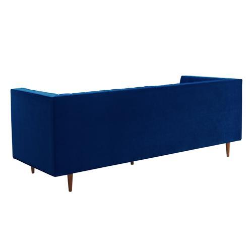 Product Image - Sebastian Navy Velvet Sofa