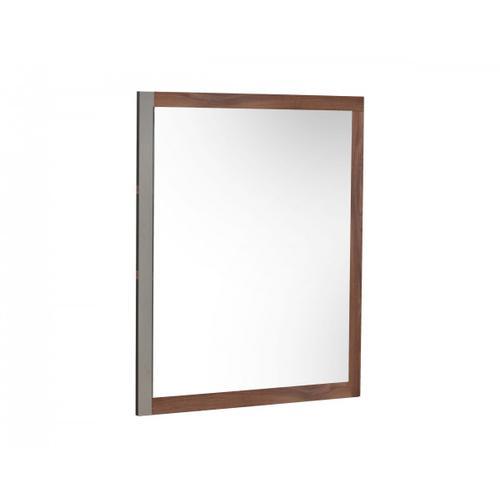 Nova Domus Palermo - Italian Modern Faux Concrete & Walnut Mirror