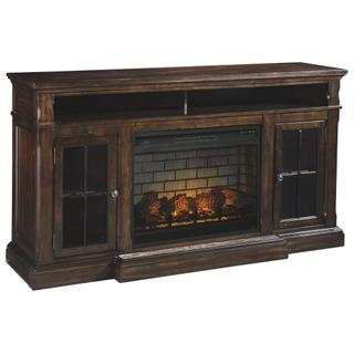 """See Details - Roddinton 74"""" TV Stand With Electric Fireplace"""