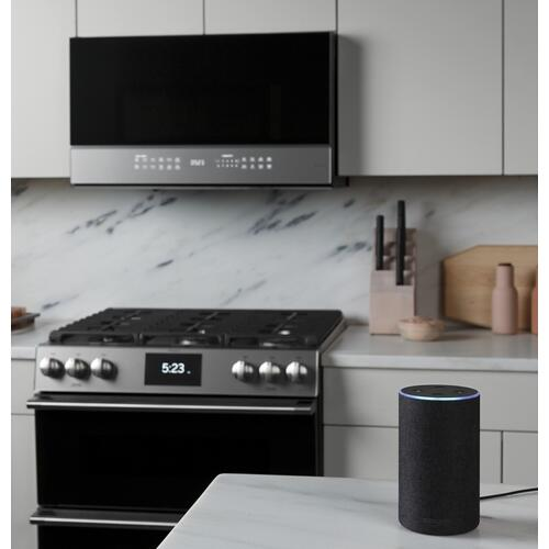 Cafe - Café™ 2.1 Cu. Ft. Smart Over-the-Range Microwave Oven in Platinum Glass