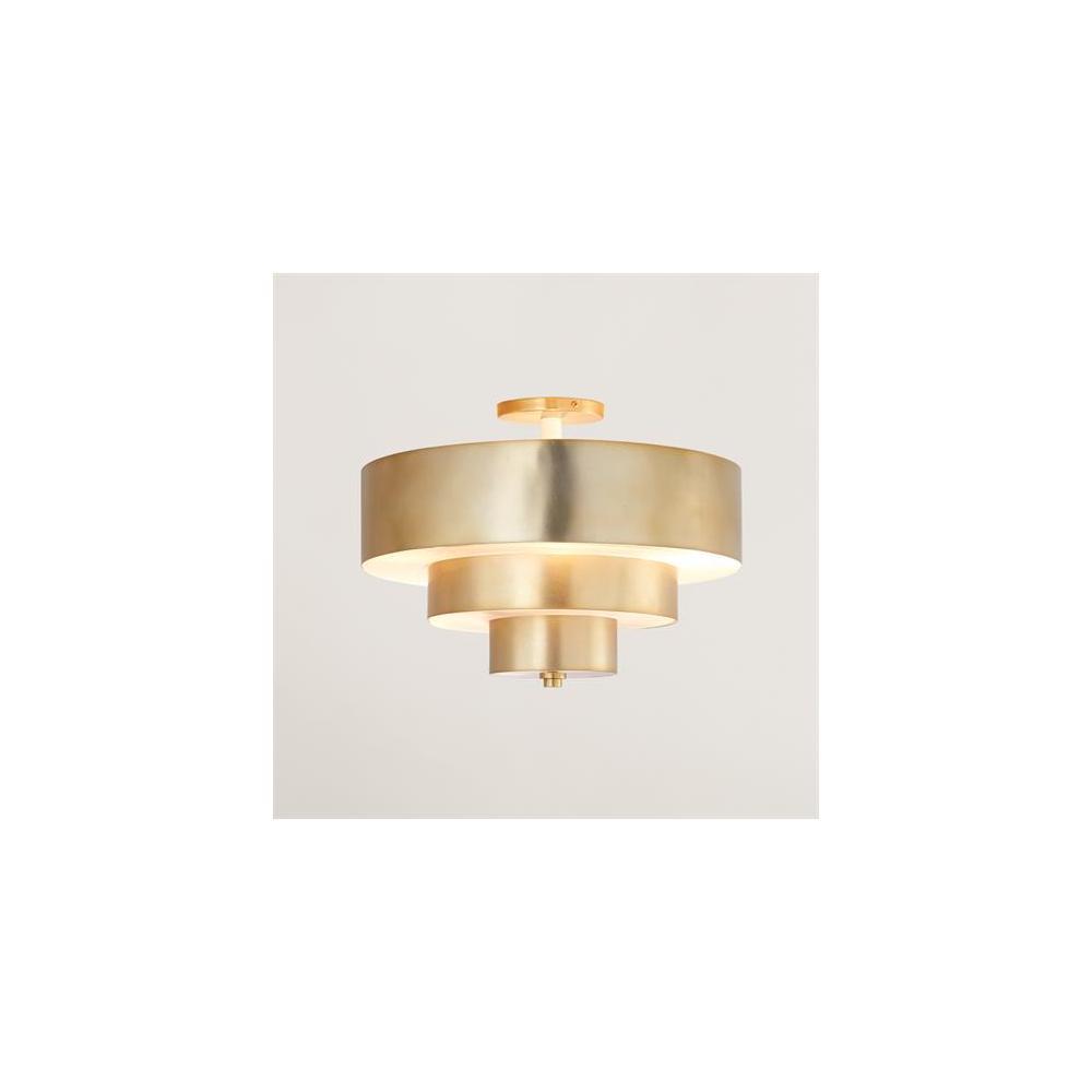 Saturn Flush Mount-Antique Brass