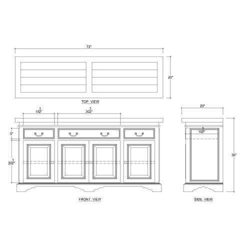 Trestle Sideboard