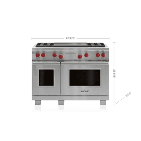 "Legacy Model - 48"" Dual Fuel Range - 4 Burners and Infrared Dual Griddle"