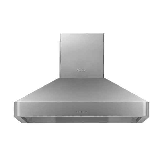 """Dacor 42"""" Chimney Wall Hood, Silver Stainless Steel"""