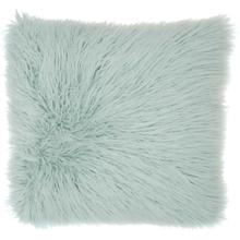 "Faux Fur Bj101 Sky 17"" X 17"" Throw Pillow"
