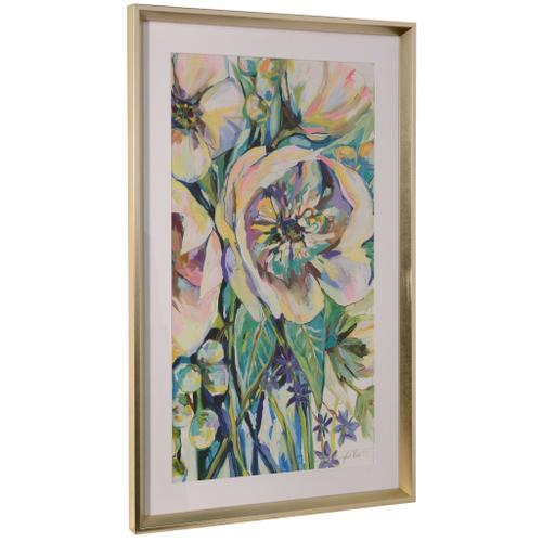 Style Craft - ENGAGING  36in ht X 22in w  Framed Print Under Glass