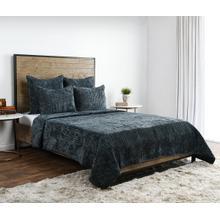Product Image - Bari Velvet Bay Green 4Pc King Quilt Set