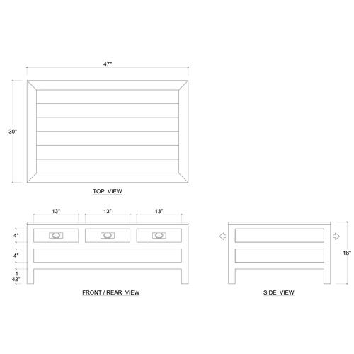 Gallery - Kagu 6 Drawer Coffee Table w/ Shelf