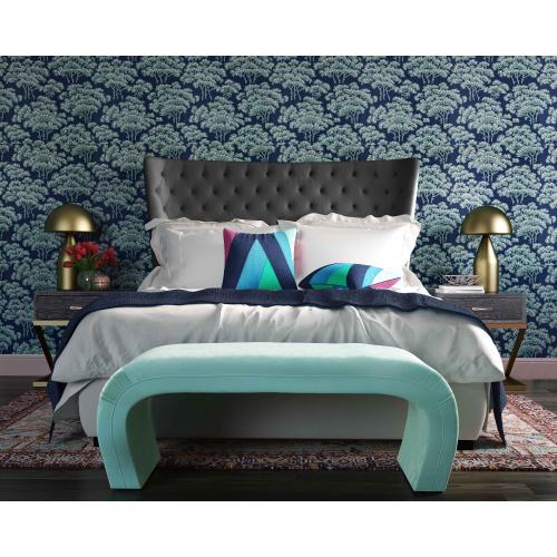 Sassy Grey Velvet King Bed