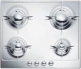 "Smeg24"" ""Renzo Piano Design"" Gas Cooktop Full stainless steel body"