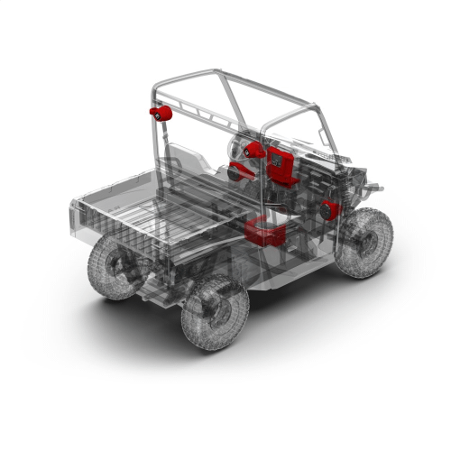 Rockford Fosgate - 400 watt stereo, front lower speaker, rear speaker, and subwoofer kit for select Polaris RANGER® models