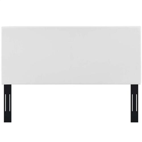 Taylor Twin Upholstered Faux Leather Headboard in White