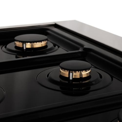 """Zline Kitchen and Bath - ZLINE Autograph Edition 36"""" 4.6 cu. ft. Range with Gas Stove and Gas Oven in Stainless Steel with Accents (RGZ-36) [Color: Champagne Bronze]"""