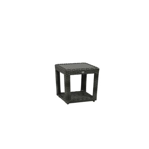 Portfino End Table w/ Clear Glass