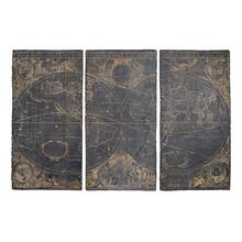 See Details - 41128  S/3 Distressed Wall Panels