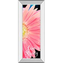 """Live Strong Daisy"" By Susan Bryant Mirror Framed Print Wall Art"