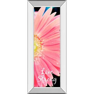 """Classy Art - """"Live Strong Daisy"""" By Susan Bryant Mirror Framed Print Wall Art"""