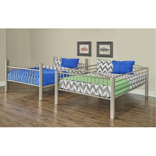 Heavy Metal Pewter Full Over Full Bunk Bed