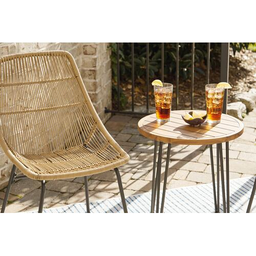 Signature Design By Ashley - Coral Sand Outdoor Chairs With Table Set (set of 3)