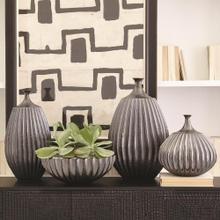 Sawtooth Vase-Graphite-Lg