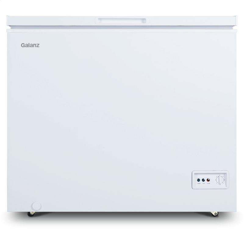 View Product - Galanz 7.0 Cu Ft Manual Defrost Chest Freezer in White